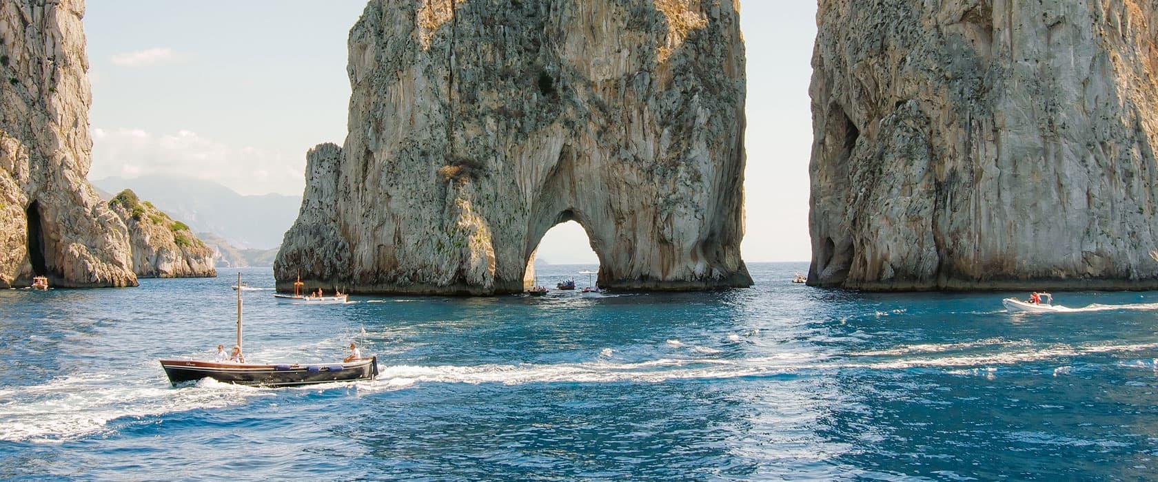 Cliffs overlooking Capri