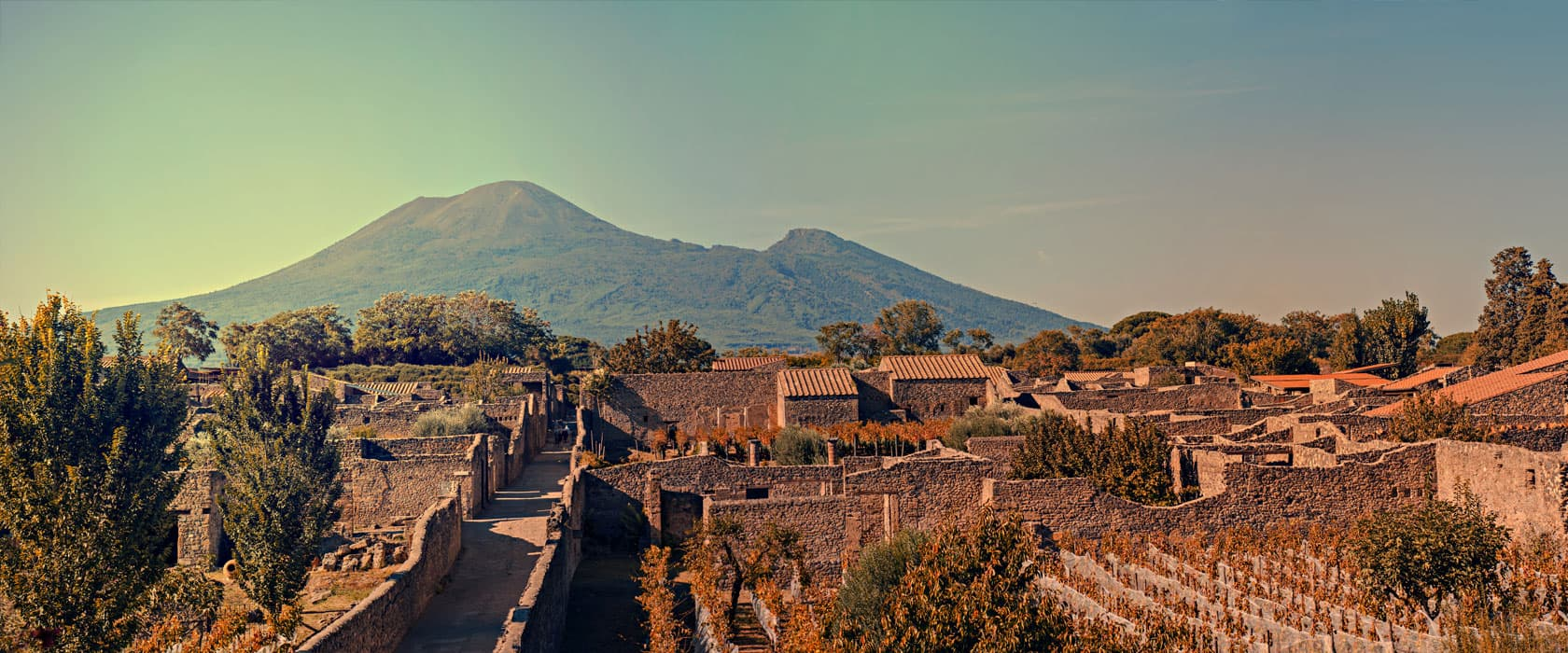 View of Pompeii